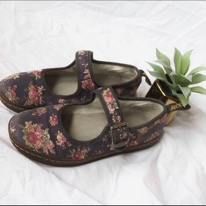 Floral Dr. Marten Carnaby Mary Jane Slip Ons